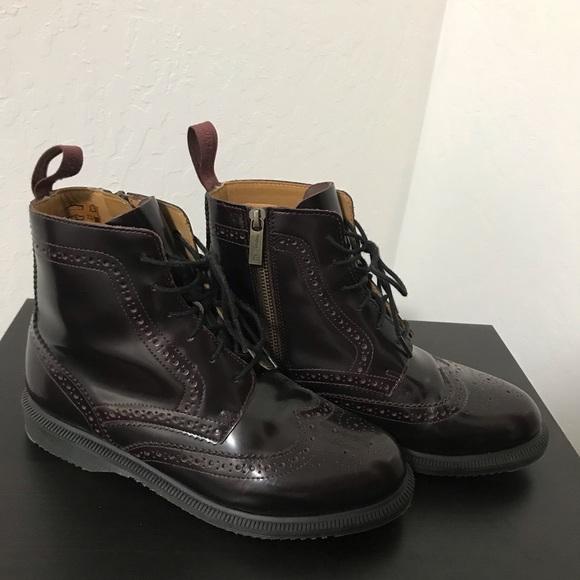 informacje o wersji na przybywa niskie ceny Dr. Martens Oxblood Delphine Arcadia boots